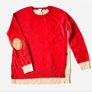 Jcrew Factory Wool Blend Popover Sweater Sz M